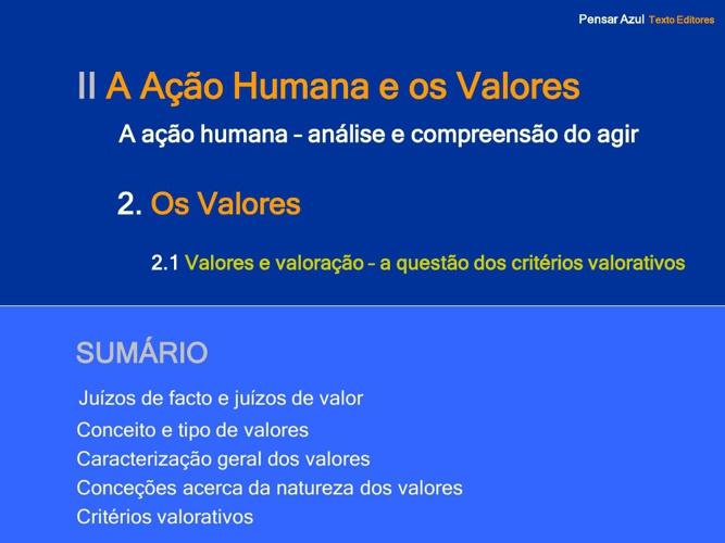 Os valores