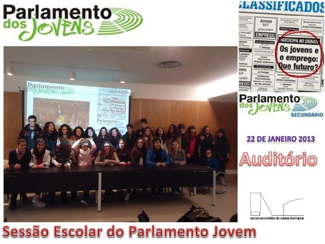 Sessão Escolar Parlamento dos Jovens