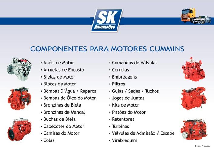 Componentes para Motores Cummins