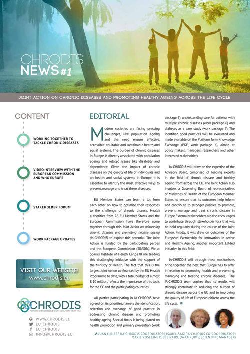 JA-CHRODIS Newsletter Welcome