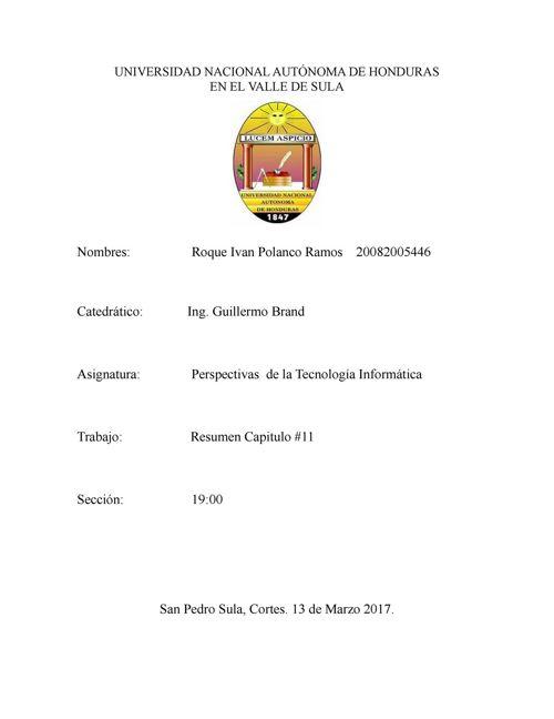 RESUMEN CAPITULO#11