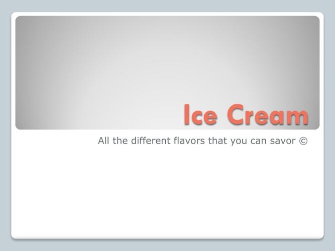 New Flip ice cream