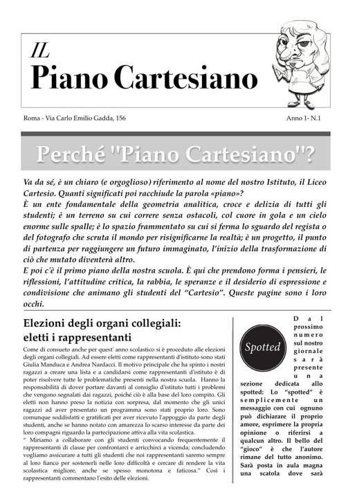 Il Piano Cartesiano anno 1 numero 1