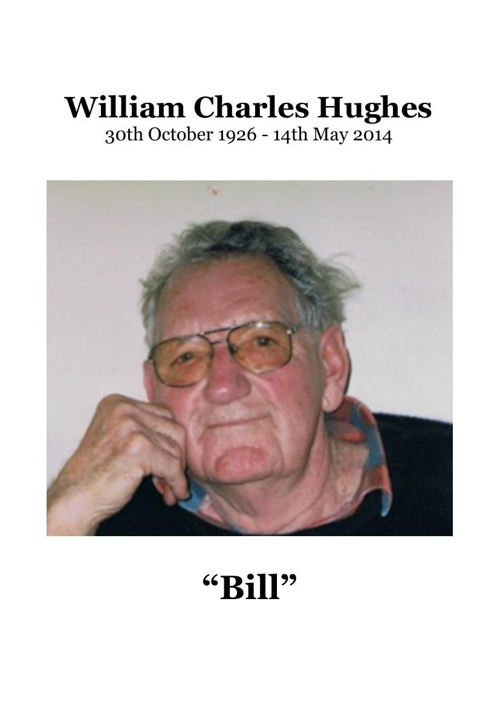 4 Order of Service for William Hughes