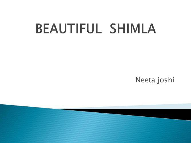 BEAUTIFUL  SHIMLA