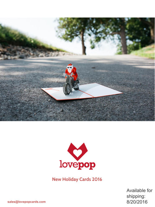 New Holiday Lovepop Cards 2016