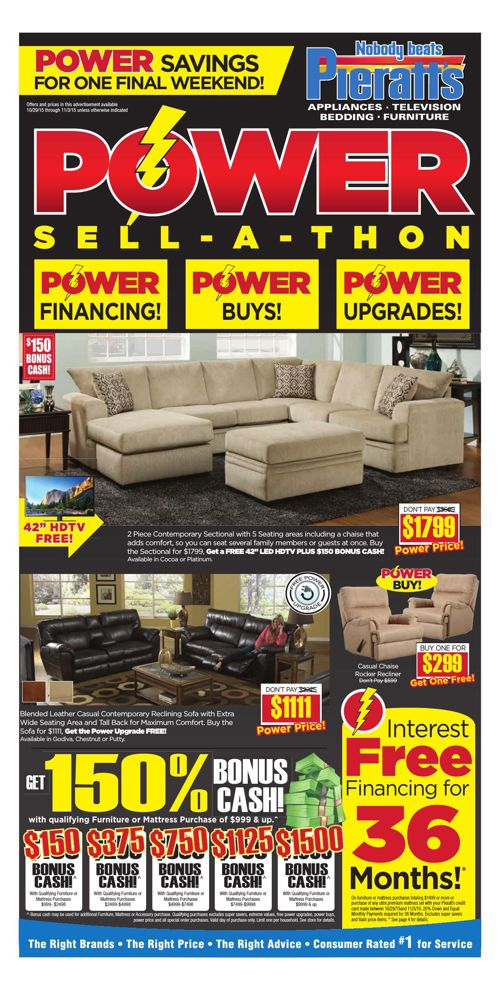 One Final Power Weekend to Save at Pieratt's!