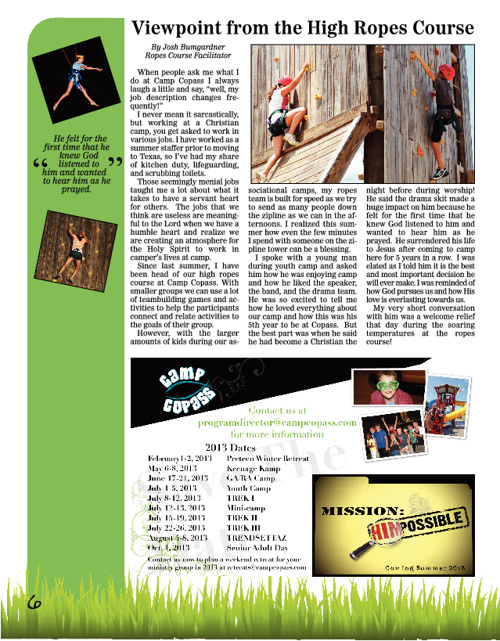 Camp Copass 2012 Fall Newsletter