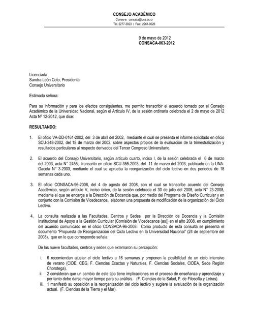 Acuerdo Ajuste de CICLO