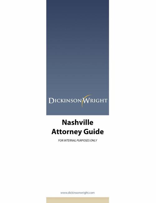Nashville Attorney Guide 6.2014