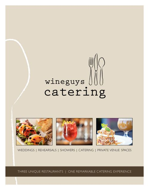 Wineguys Catering Menu