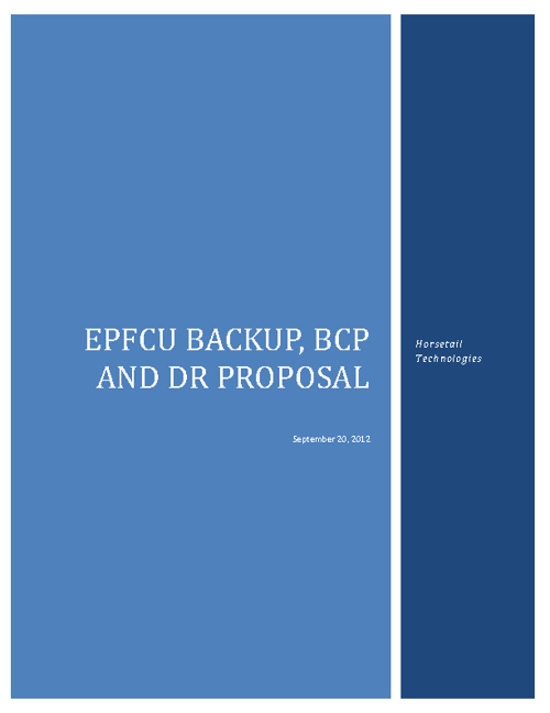 EP Disaster Recovery and BCP