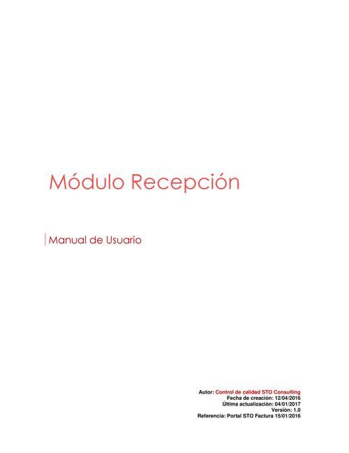 Manual de RECEPCIÓN-usuario proveedor