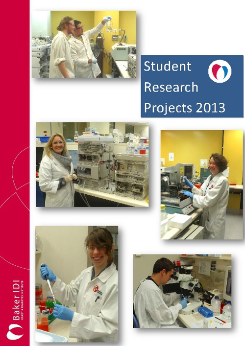 2013 Baker IDI Student Research Projects