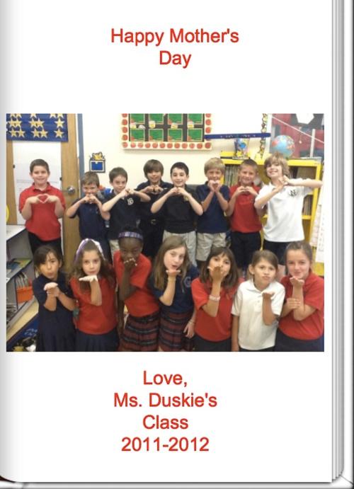 Happy Mother's Day - Mrs. Duskie