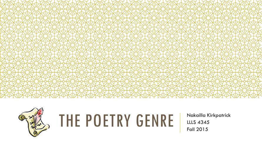 The Poetry Genre flip book