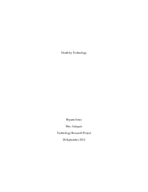 Technology Research Project - Bryann Jones