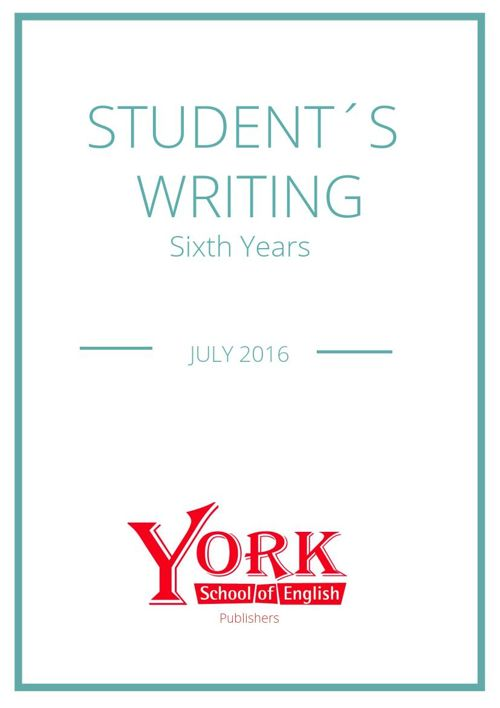 Newsletter # 2 - Sixth Years.