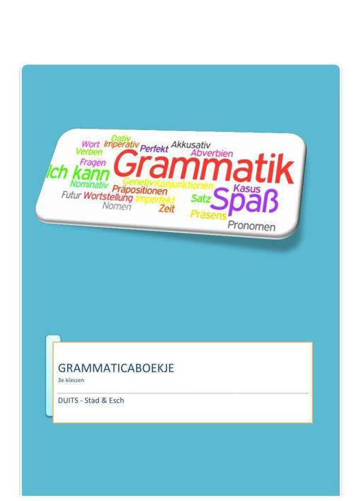 3e klassen - grammaticalijn (K. Dekker)