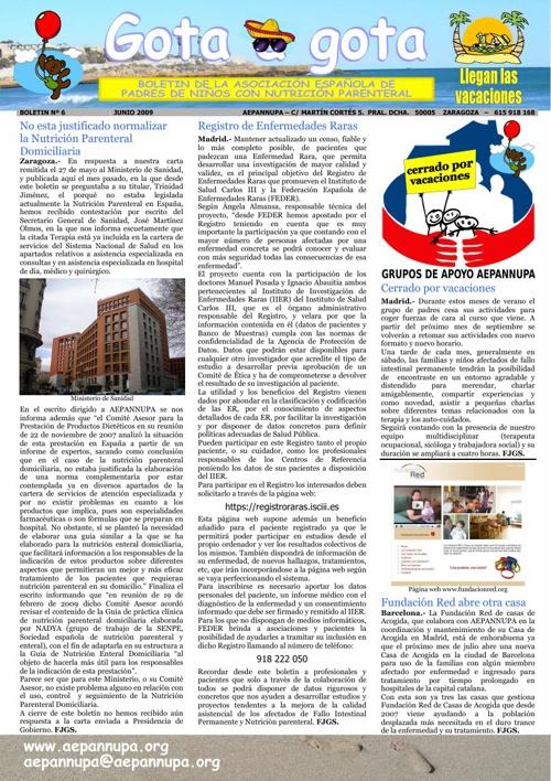 Boletín 6 Junio 2009
