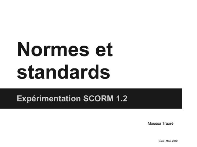 Expérimentation SCORM 1.2