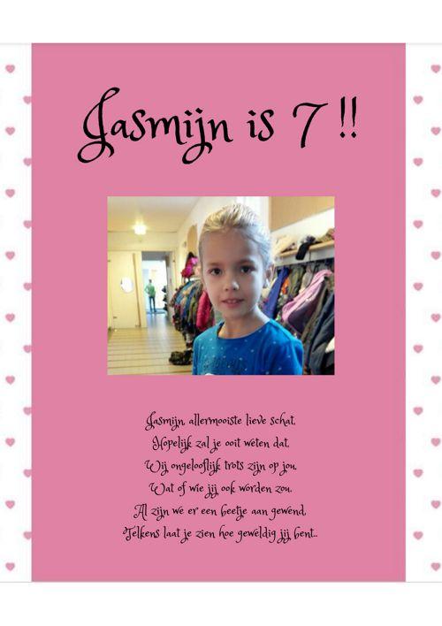Verjaardagsboekje jasmijn