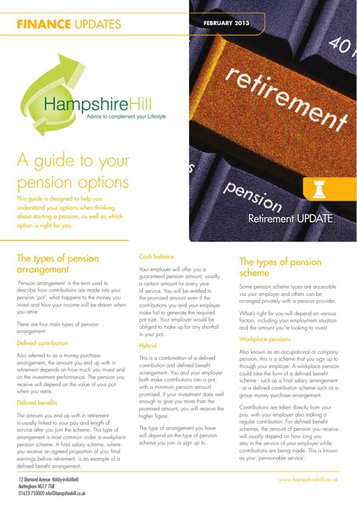 Hampshire Hill Newsletters February 2013