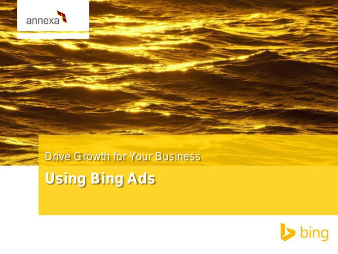 BING ADS - DRIVE GROWTH