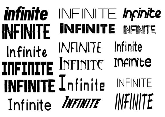 Font mood board