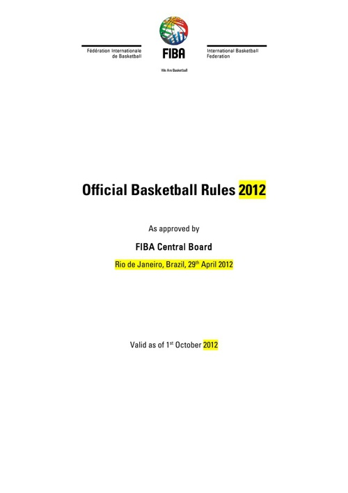 Basketball Laws of the Game