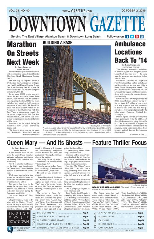 Downtown Gazette  |  October 2, 2015