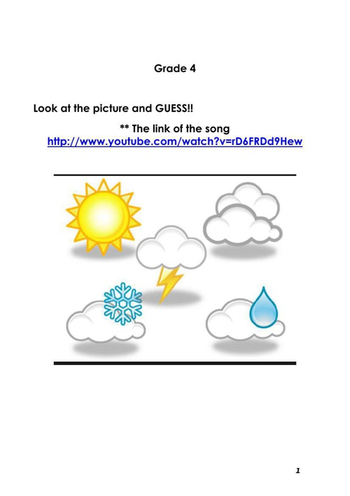 Worksheet- The weather