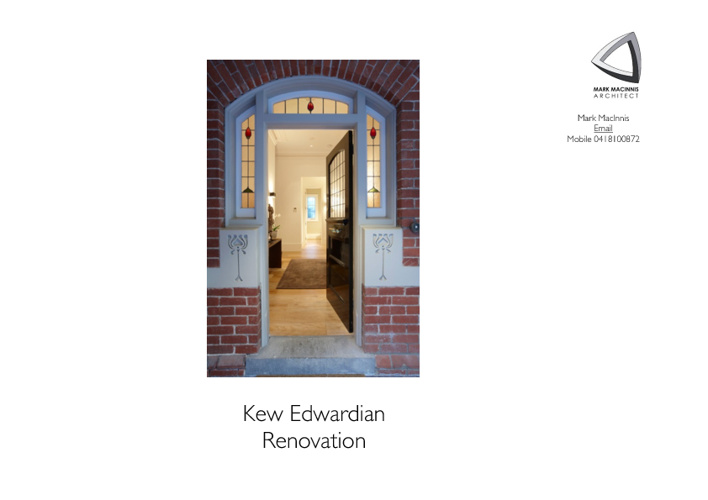 Kew Edwardian Renovation