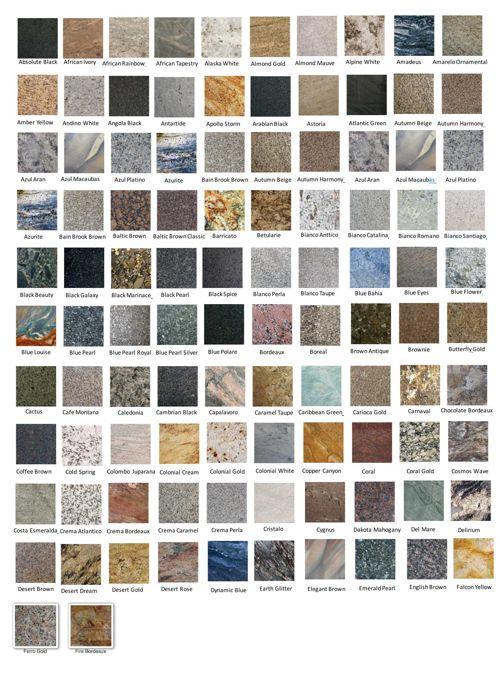 granite slab colors