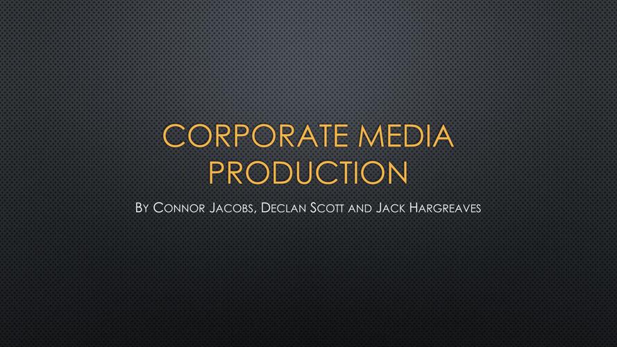 Corporate Media Production PDF