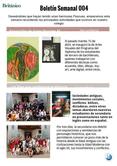 Informativo Semanal 004