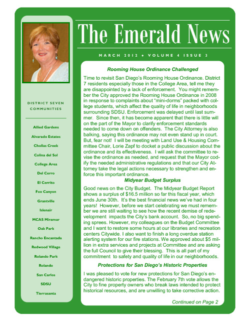 The Emerald News: Volume 4, Issue 3 (March 2012)