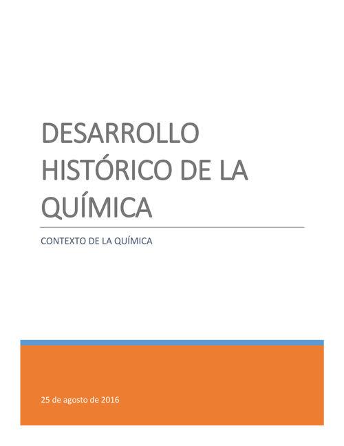 Desarrollo Historico de la Química