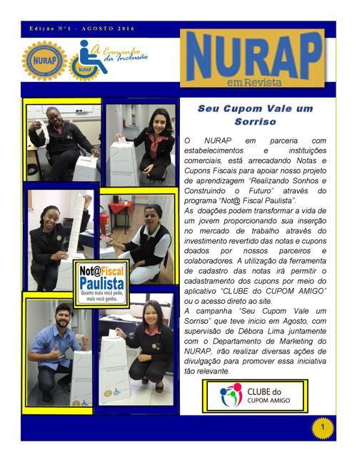 Nurap em Revista - 1ª Edição - Agosto 2016