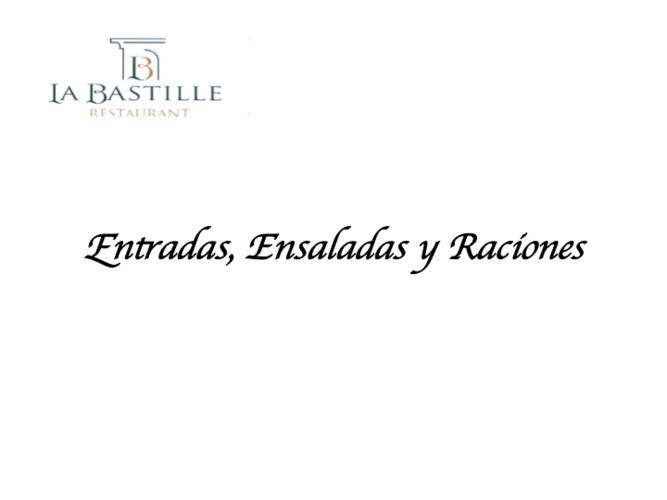 CATALOGO ENTRADAS ENSALADAS Y RACIONES