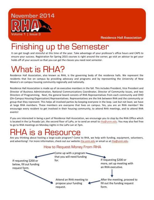 UNM RHA November Newsletter