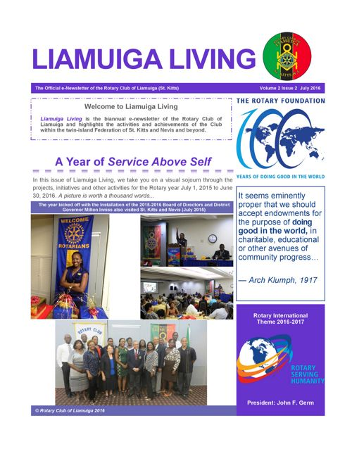 RCL Newsletter Vol 2 Iss 4 July 2016