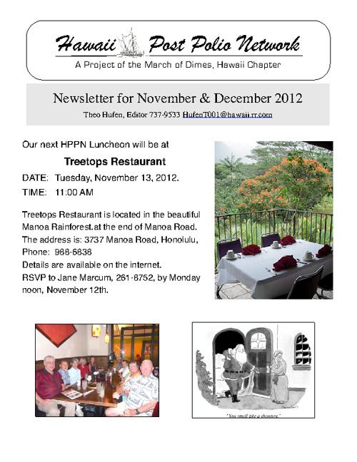 2012 November + December Newsletter