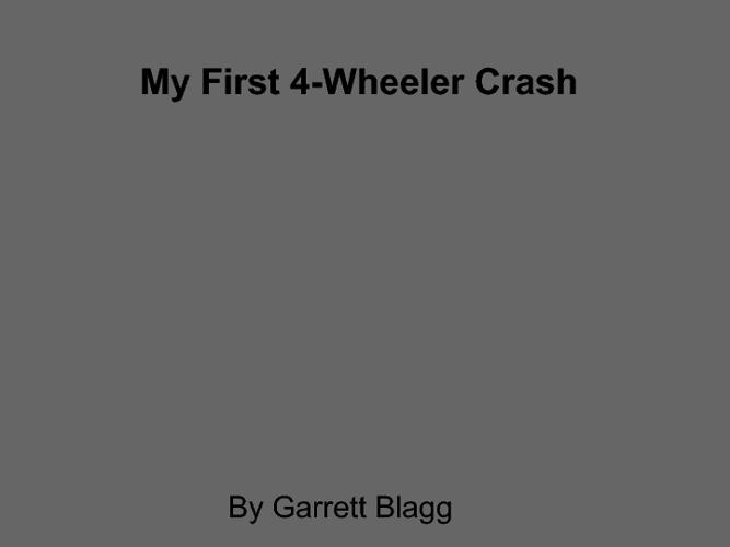 My First-wheler Crash