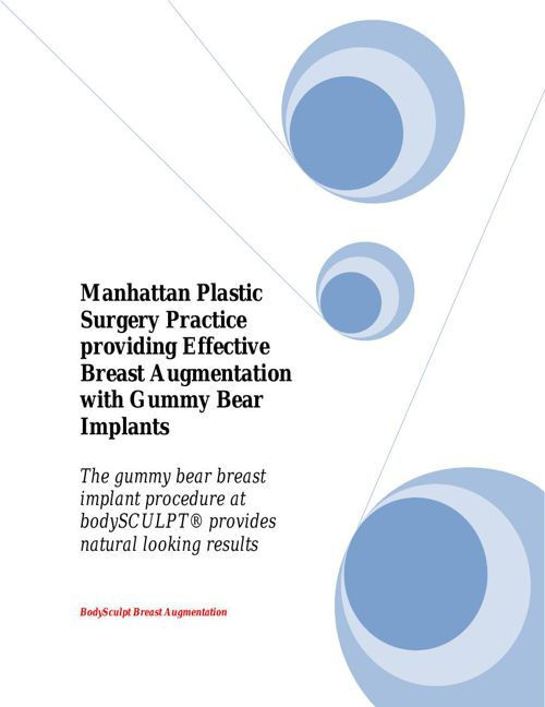 Manhattan Plastic Surgery Practice providing Effective Breast Au