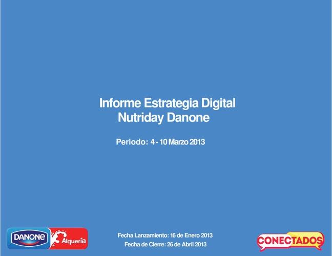 Informe Estrategia Digital Nutriday 4 - 10 Marzo