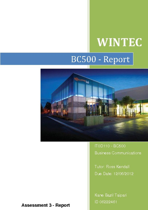 BC500 - Report (SECURITY THREATS)