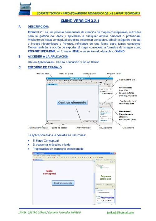 Xmind y la laptop secundaria