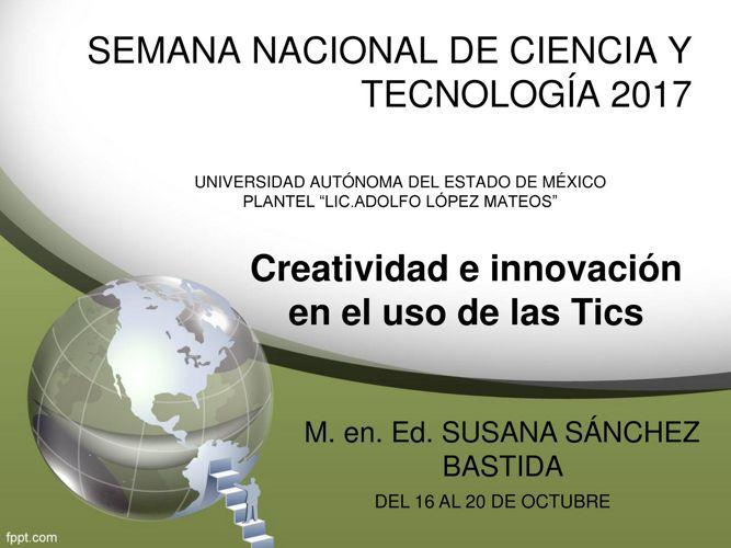 semana de la ciencia  y tecnología 2017 ponencia  5to 9