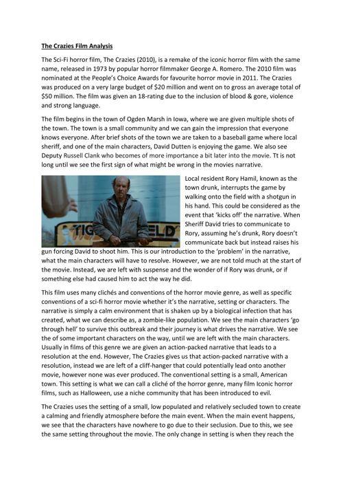 The Crazies Film Analysis